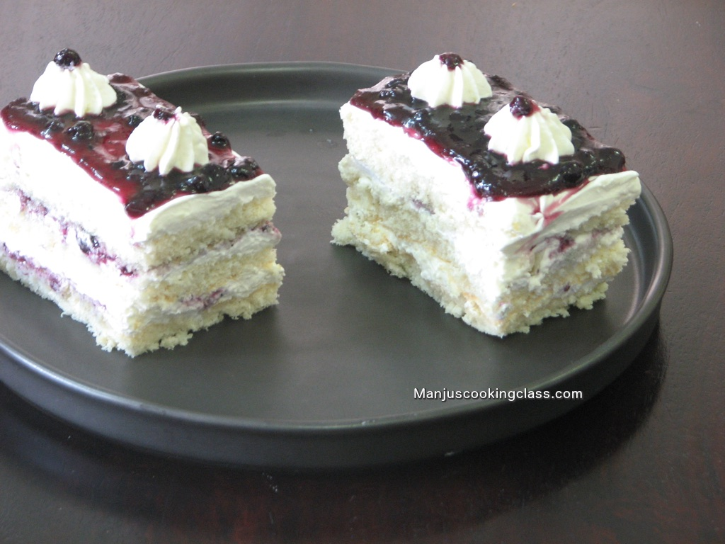 Blueberry Bavarian Cream Cake