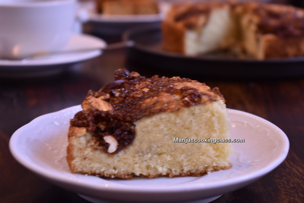 Coffee topped cake