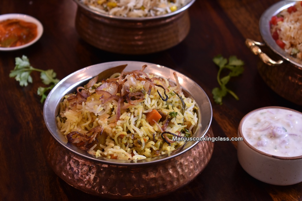 Dum Vegetable Biryani