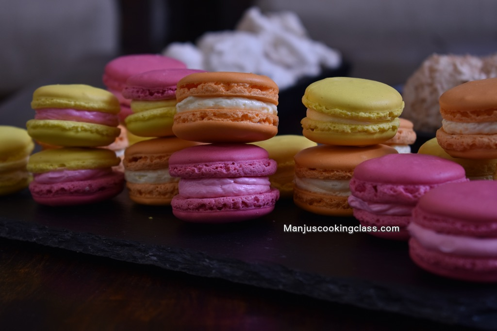 French Macaron in Baking Tray