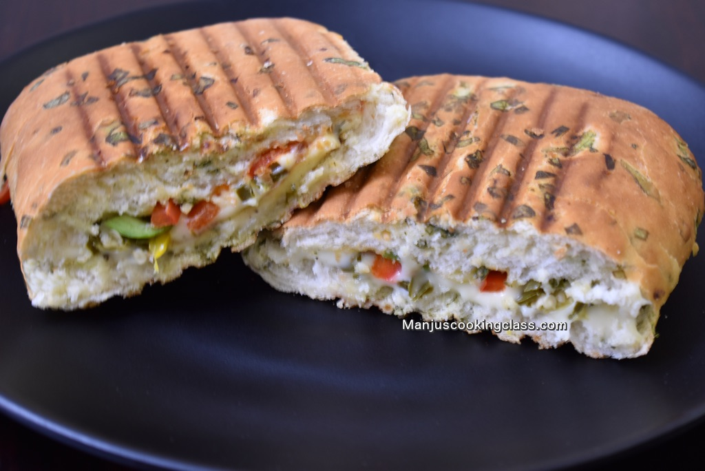 grilled panner panini