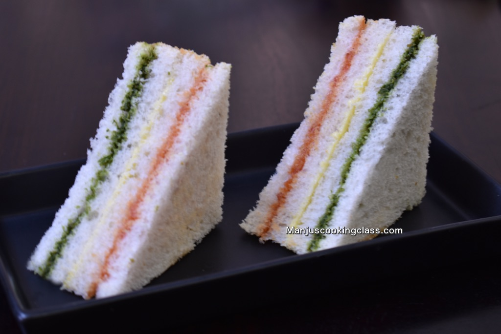Layered veg sandwich