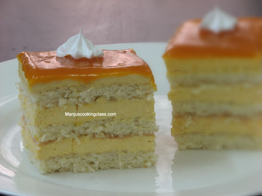 Mango Cream Cheese Cake