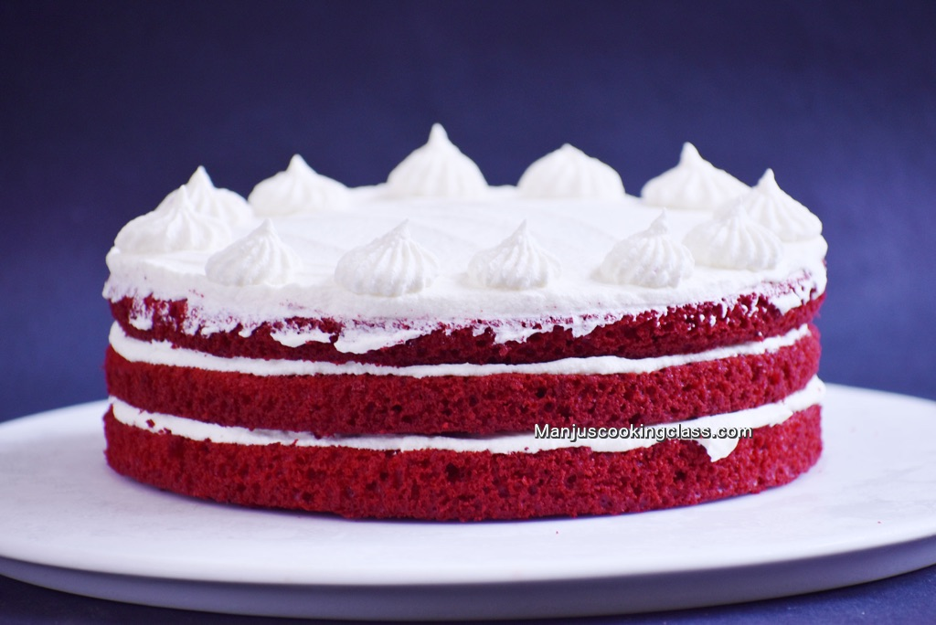 Red Velvet Cake with Swiss Meringue Buttercream Icing