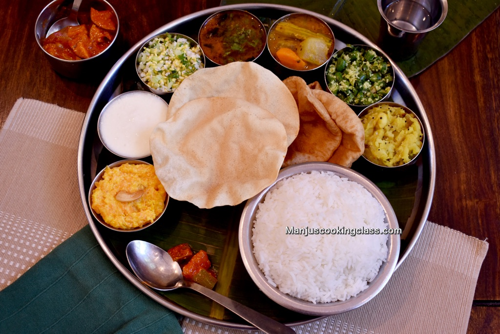South Indian thali meals