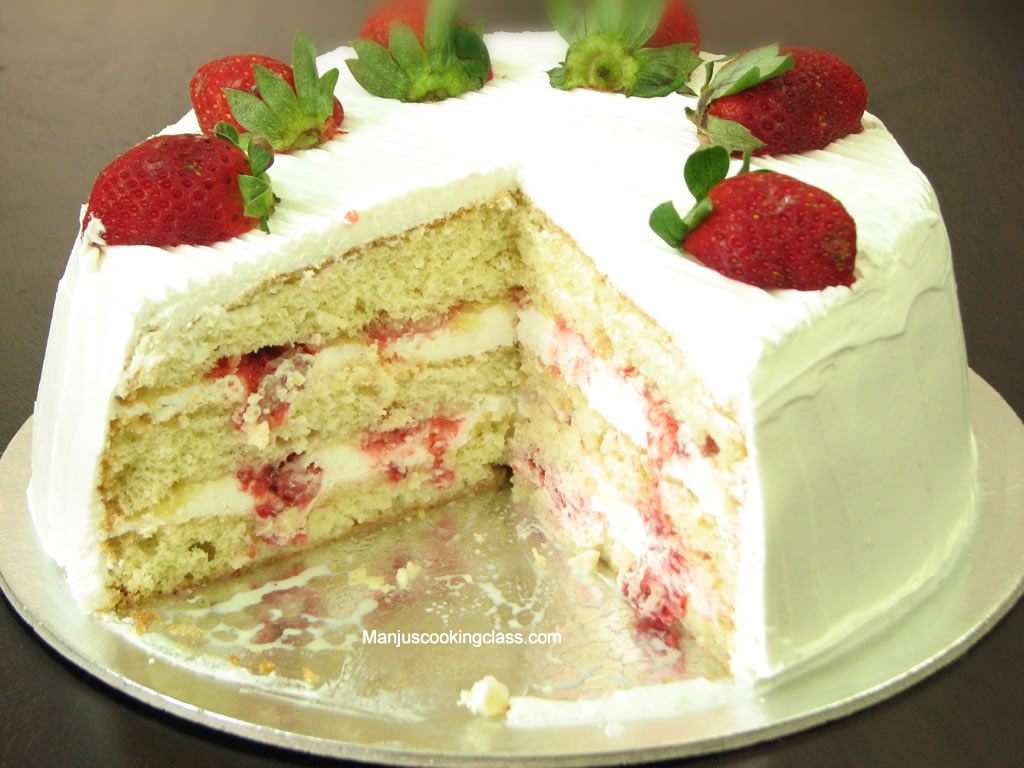 Strawberry Chocolate Silk Cake