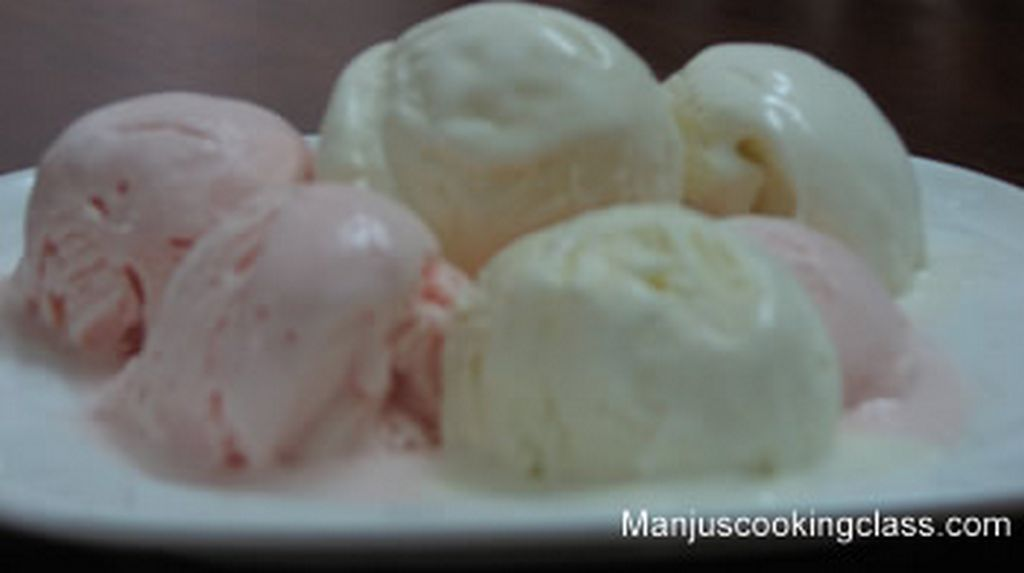 Vanilla and Strawberry Ice cream