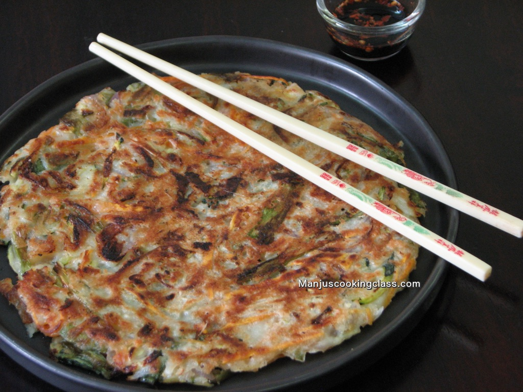 Yachaejeon (Korean Vegetable Pancake)